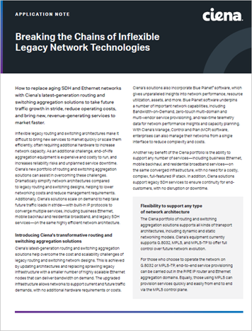 Breaking the Chains of Inflexible Legacy Network Technologies