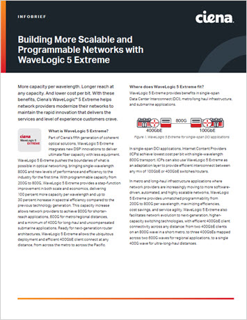 Building More Scalable and Programmable Networks with WaveLogic 5 Extreme infobrief thumbnail