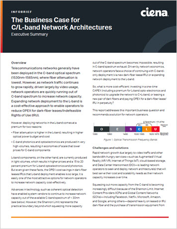 The Business Case for C/L-band Network Architectures infobrief thumbnail
