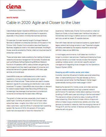 Cable in 2020: Agile and Closer to the User