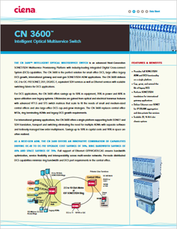 CN 3600 product data sheet