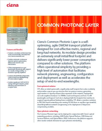 Common Photonic Layer product data sheet
