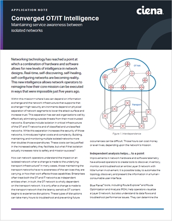 Converged OT/IT Intelligence App Note