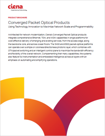 Converged Packet Optical Products