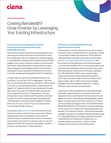 Craving Bandwidth? Grow Smarter by Leveraging Your Existing Infrastructure application note thumbnail