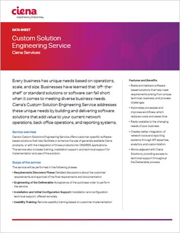 Custom Solution Engineering data sheet