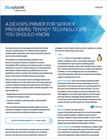 A DevOps Primer for Service Providers: Ten Key Technologies You Should Know