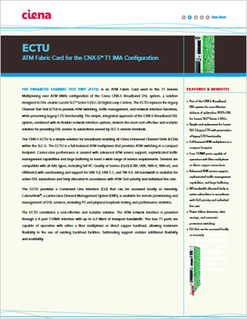ECTU product data sheet