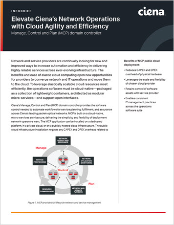 Elevate Ciena's Network Operations with Cloud Agility and Efficiency infobrief thumbnail