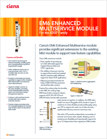 EM6 Enhanced Multiservice Module product data sheet