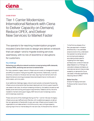 Tier 1 Carrier Modernizes International Network thumbnail