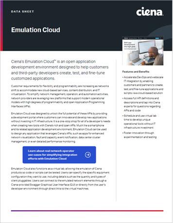 Emulation Cloud data sheet preview