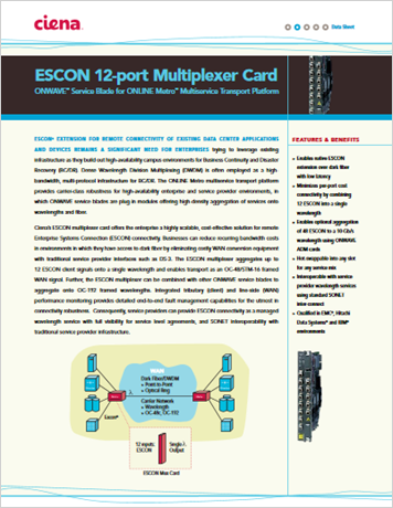 ESCON 12-port Multiplexer Card product data sheet
