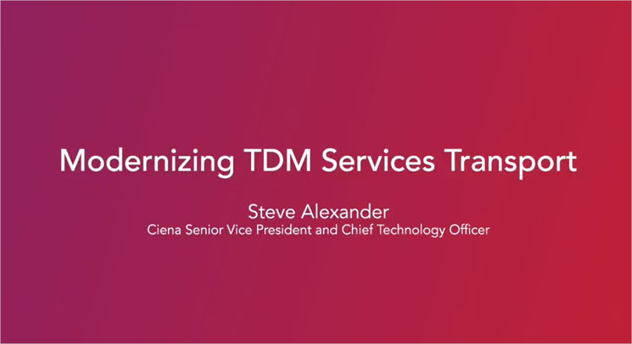 Evolutionize with TDM to Packet Solutions - Steve Alexander talking