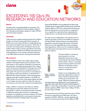 Exceeding 100 Gb/s in Research and Education Networks