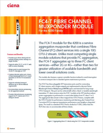 FC4 T Fibre Channel Muxponder Module product data sheet