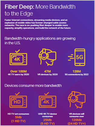 Fiber Deep: More Bandwidth to the Edge infographic
