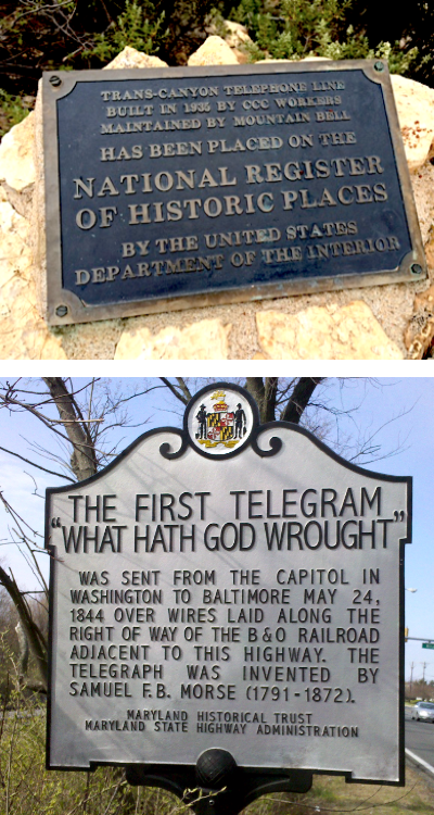 First telegram Trans canyon telegraph