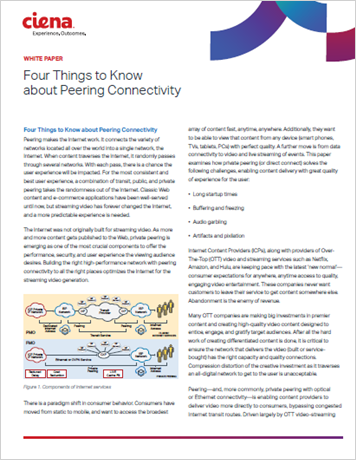 Four Things to Know about Peering Connectivity