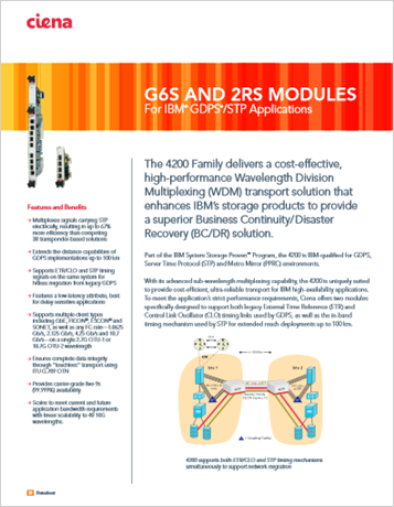 G6S and 2RS Modules product data sheet