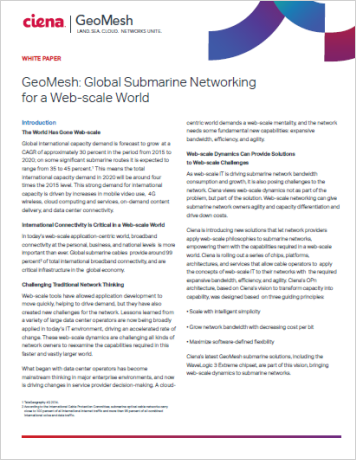 GeoMesh: Global Submarine Networking for a Web scale World