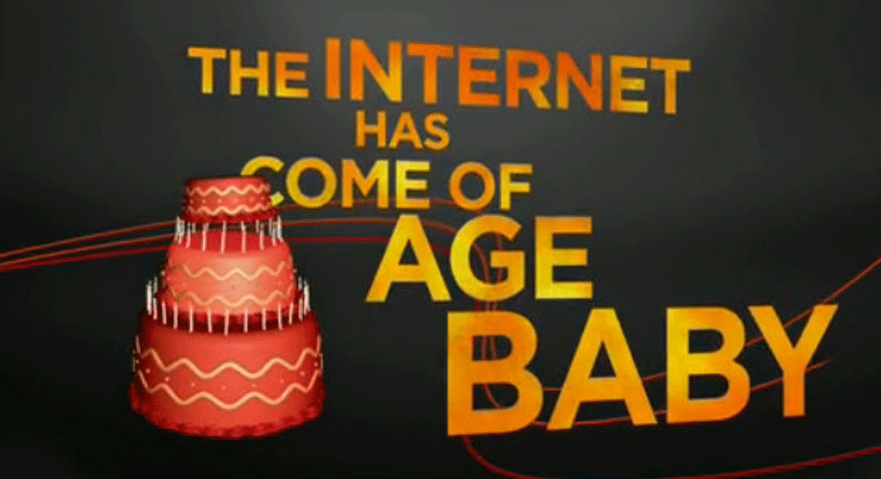 The internet has come of age