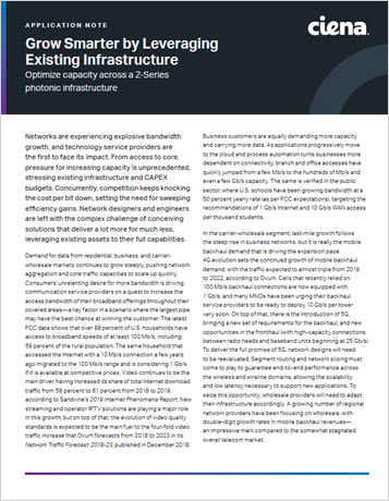 Grow Smarter by Leveraging Existing Iinfrastructure application note thumbnail