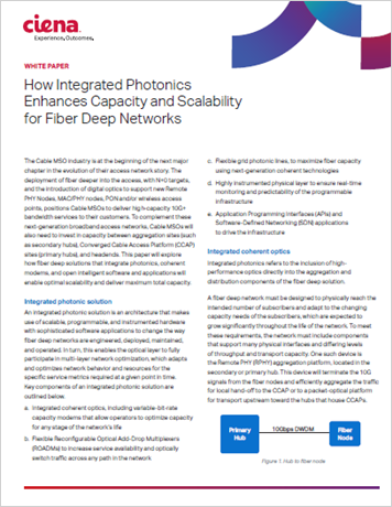 How Integrated Photonics Enhances Capacity and Scalability for Fiber Deep Networks