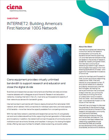 Internet2: Building America's First National 100G Network