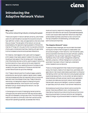 Introducing the Adaptive Network Vision WP preview