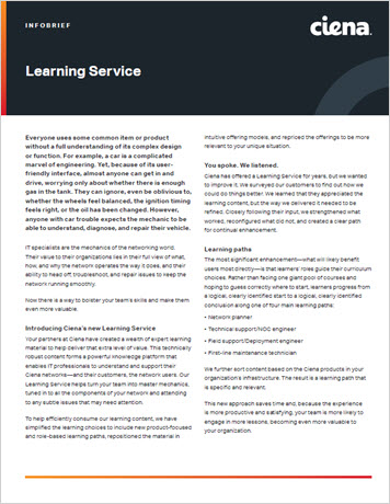 Learning Services infobrief thumbnail