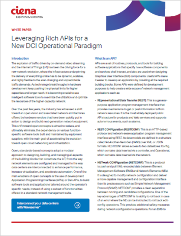 Leveraging Rich APIs for a New DCI Operational Paradigm