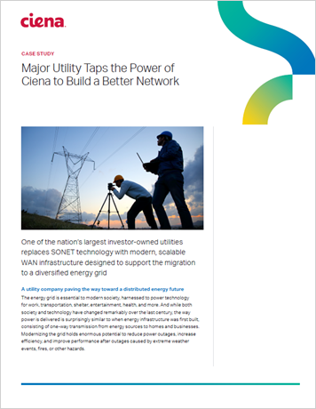 Major Utility Taps the Power of Ciena to Build a Better Network case study thumbnail