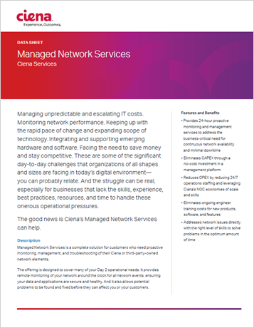 Managed Network Services datasheet