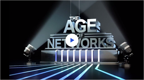 The Age of Networks with main stage lights focused on it