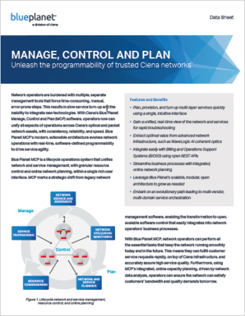 Manage, Control and Plan