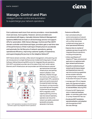 Thumbnail image for Manage, Control, and Plan data sheet