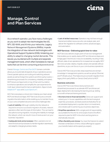 Thumbnail image for Manage, Control and Plan Services infobrief