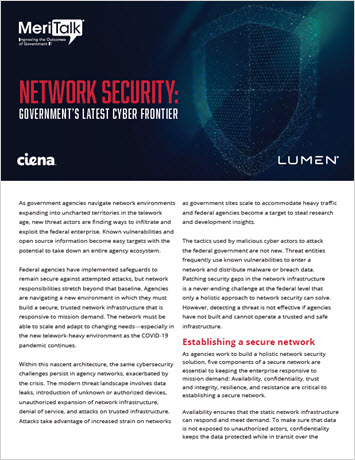 MeriTalk: Network Security – Government's Latest Cyber Frontier infobrief thumbnail