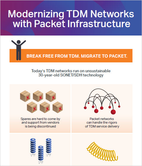 Modernizing TDM networks with packet infrastructure