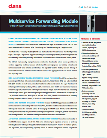Multiservice Forwarding Module product data sheet