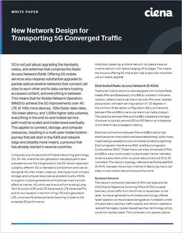 New Network Design for Transporting 5G Converged Traffic