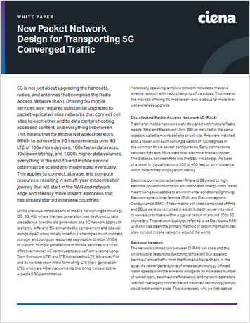 New Packet Network Design for Transporting 5G Converged Traffic whitepaper thumbnail