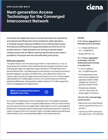 Next-generation Access Technology for the Converged Interconnect Network AN