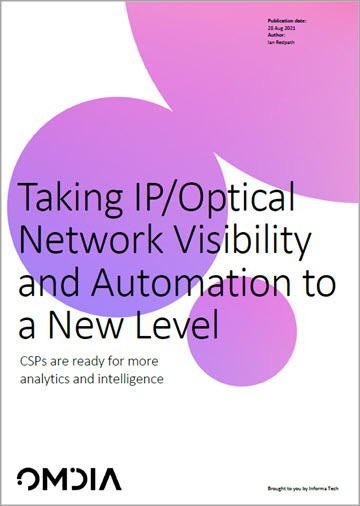 Thumbnail image for Omdia: Taking IP/Optical network visibility and automation to a new level