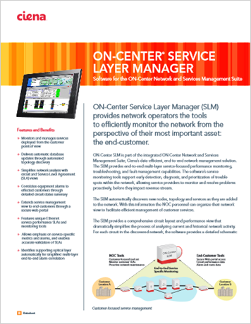ON Center Service Layer Manager   product datasheet