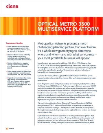 Optical Metro 3500 Multiservice Platform product data sheet