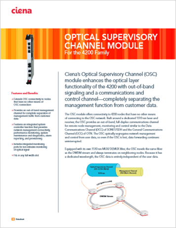 Optical Supervisory Channel Module product data sheet