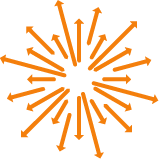 Image of orange arrows in a circle