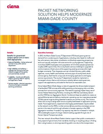 Packet Networking Solution Helps Modernize Miami-Dade County